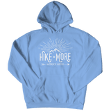 Hike More Worry Less - Hoodie Light Blue