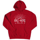 Hike More Worry Less - Hoodie Red