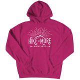 Hike More Worry Less - Hoodie  Pink