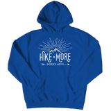 Hike More Worry Less - Hoodie Royal Blue
