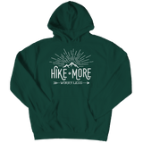 Hike More Worry Less - Hoodie Forest Green