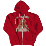 Happiness Is Hiking With Friends Hoodie Red