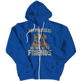 Happiness Is Hiking With Friends Hoodie Royal Blue