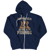 Happiness Is Hiking With Friends Hoodie Navy