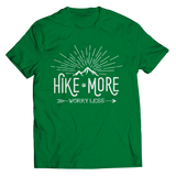 Hike More Worry Less T Shirt Classic Kelly