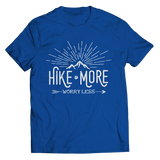 Hike More Worry Less T Shirt Classic Royal Blue