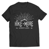 Hike More Worry Less T Shirt Classic Black