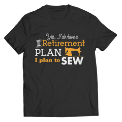 Sewing Retirement Plan Unisex Shirt Black
