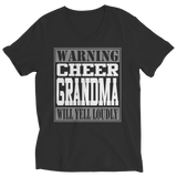 Limited Edition - Warning Cheer Grandma will Yell Loudly - Ladies V-Neck