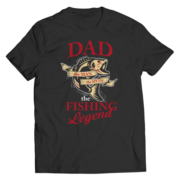Limited Edition - Dad The Man The Myth The Fishing Legend Black - T Shirt Classic