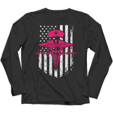 Limited Edition - Nurse Flag Pink Symbol - Long Sleeves