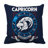 Capricorn Zodiac Pillow Case Navy