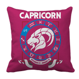 Capricorn Zodiac Pillow Case Pink