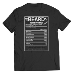 BEARD NUTRITION FACT - T-Shirt  Ladies