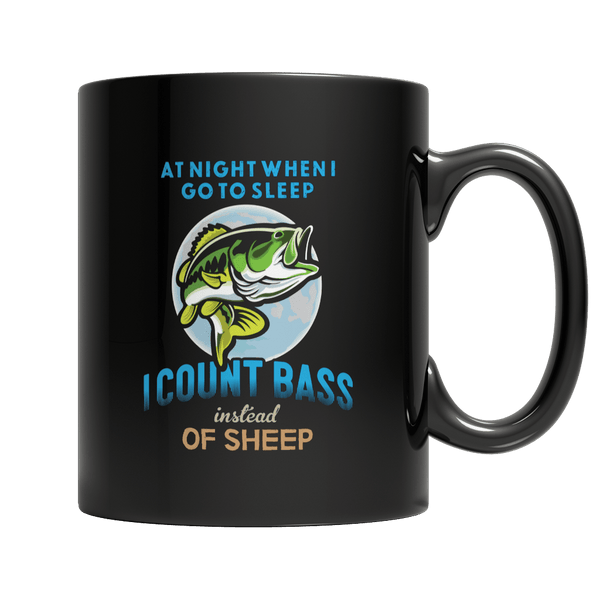 I Count Bass Instead Of Sheep - Mug