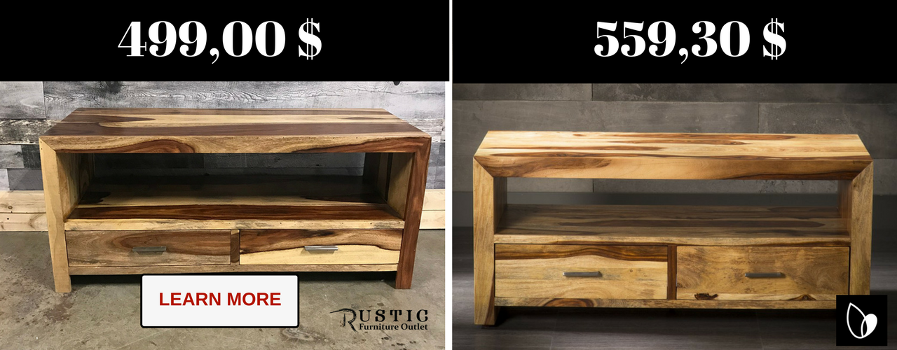 Shop beautiful rosewood tv stands from Rustic furniture Outlet