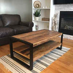 Industrial Rustic mango wood coffee table