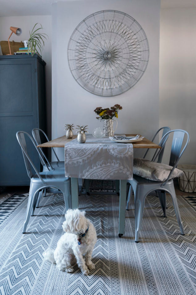The dining room of interior stylist & blogger Maxine Brady