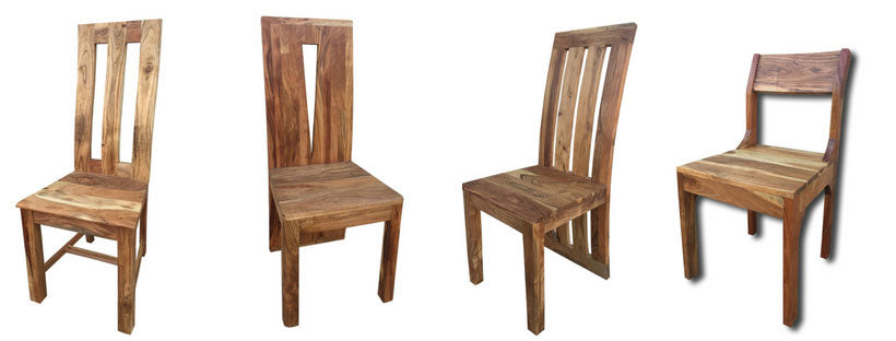 Our selection of hard wood dining chairs
