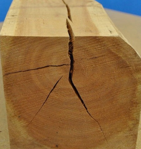 Rustic furniture wood crack