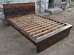 Zen grey indian rosewood bedframe