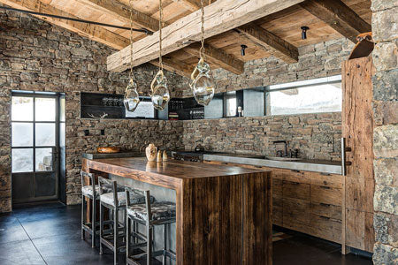 using nature in your space such as stone walls is a wonderful 2018 design tip