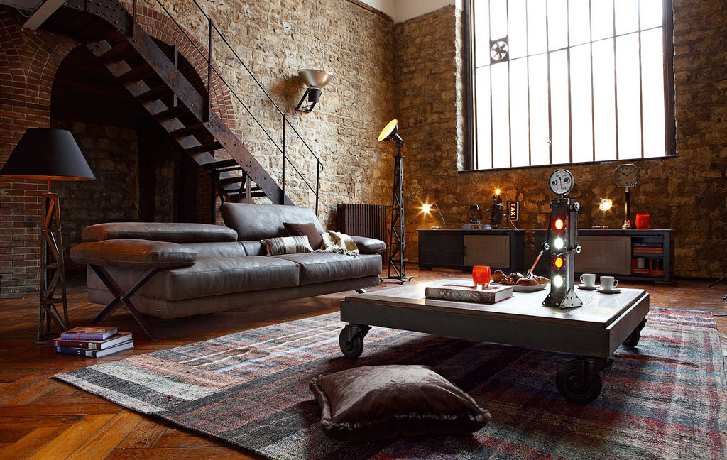 Rustic Industrial loft design idea