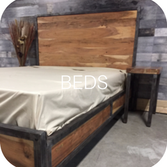 Solid wood bed frames