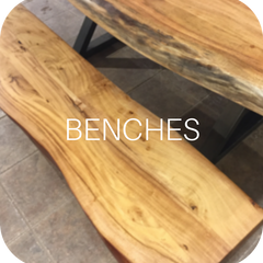 exotic wood rustic benches