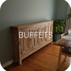 Exotic wood rustic buffet