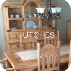Solid wood rustic pine hutches