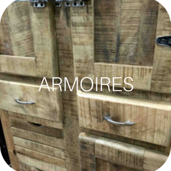 Solid wood armoires
