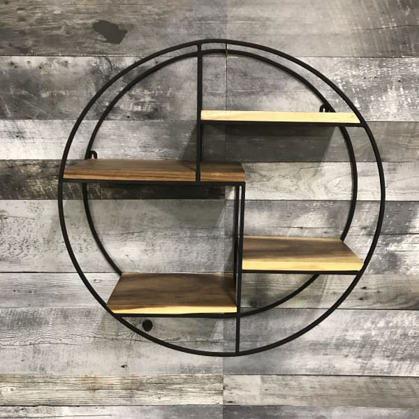 4 SHELF CIRCULAR WALL HANGING FLOATING SHELVING - $279.00