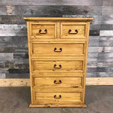 6 drawer rustic pine tall boy - $699.00