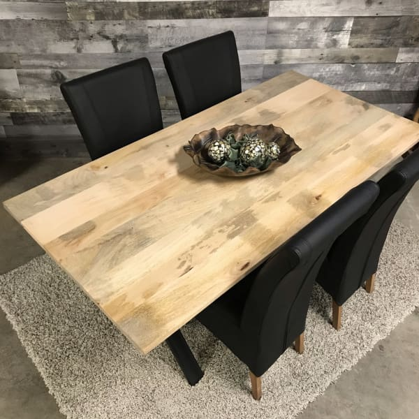 Mango wood dining table 6 seater