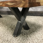 71 Zen Industrial Natural Indian Rosewood bench