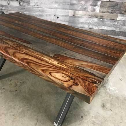 72 Zen Industrial Grey Indian Rosewood dining table - $799.00