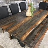 84 Zen Industrial Grey Indian Rosewood dining table - $549.00