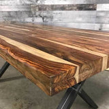 84 Zen Industrial Natural Indian Rosewood dining table