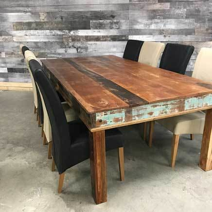 96 Rustic Reclaimed wood dining table