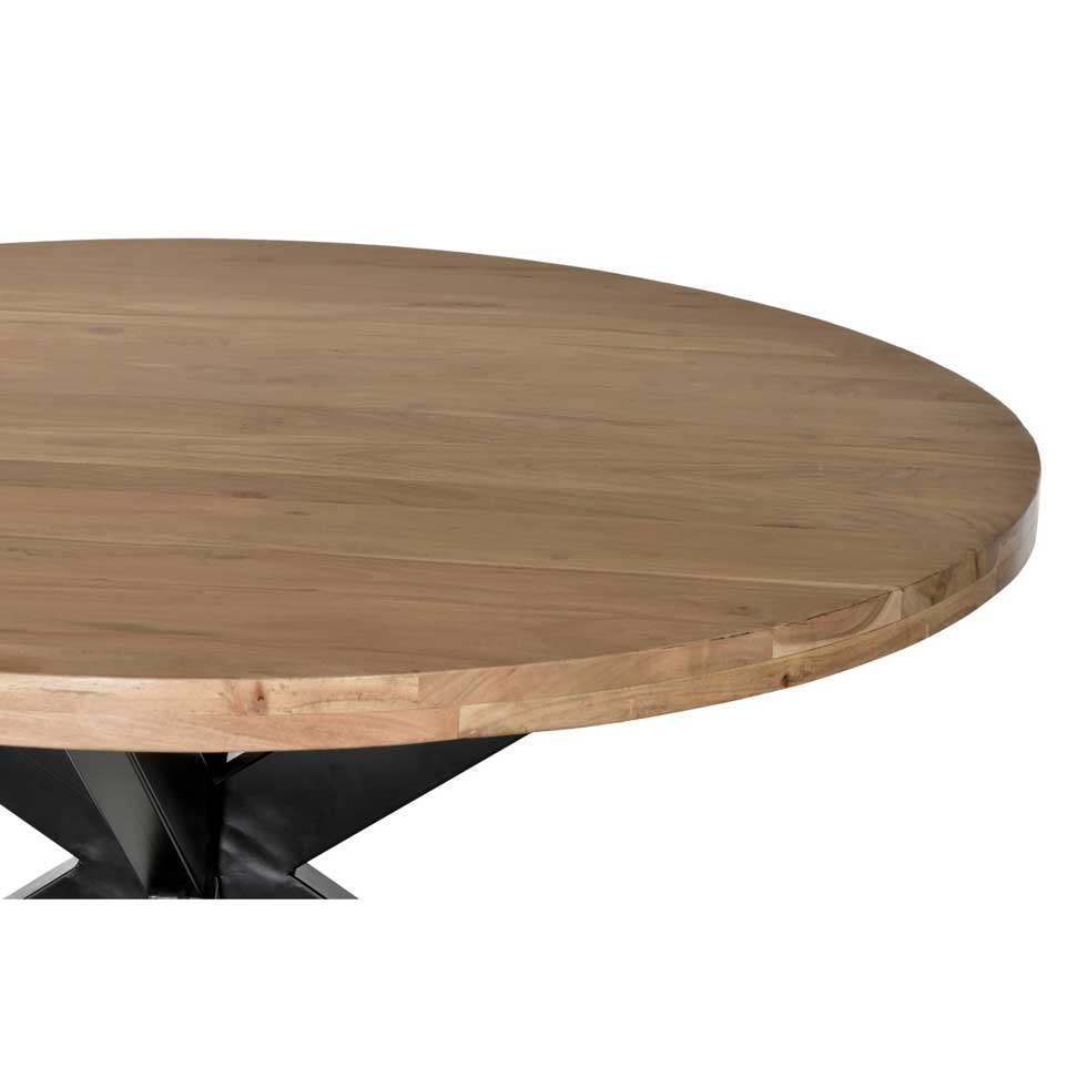 Acacia round dining table