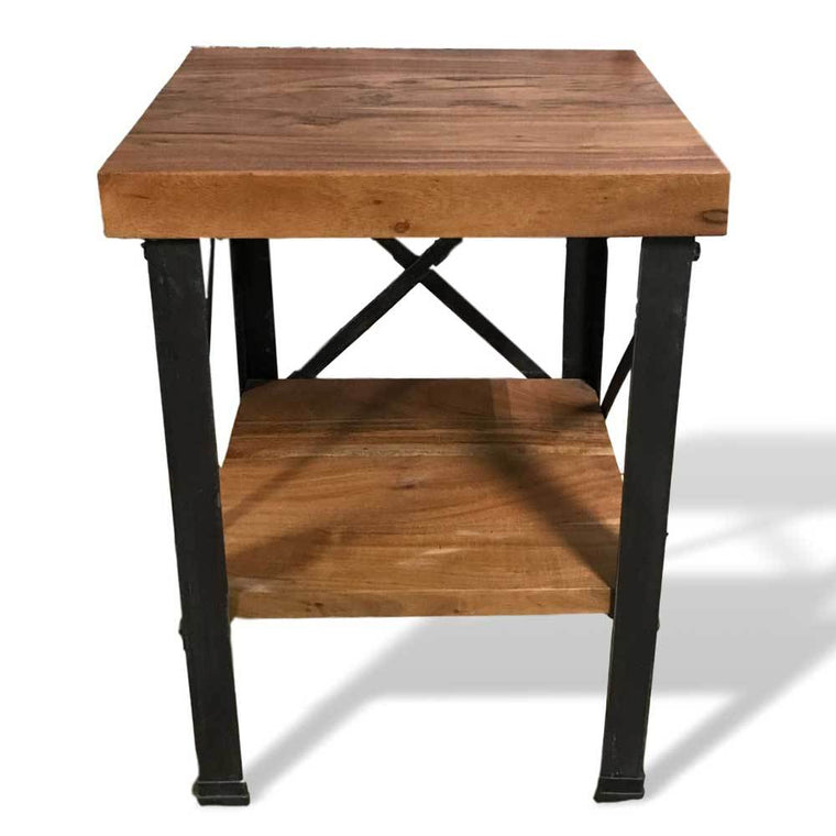 Acacia wood end table for living room