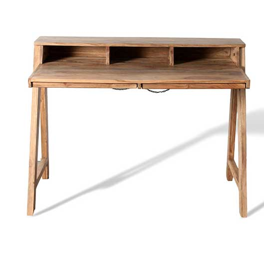 light color acacia wood computer desk