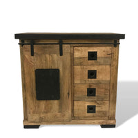 barn door buffet solid wood mango