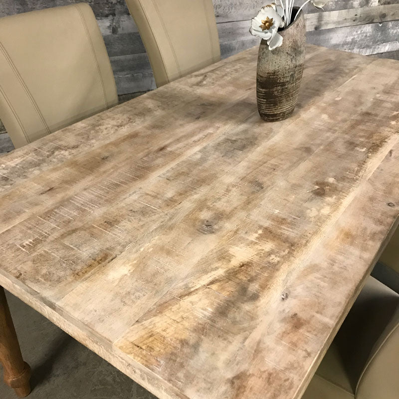 8 seater mango wood dining table