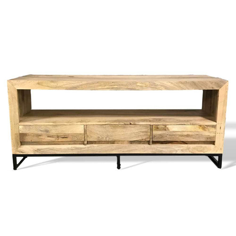 modern industrial mango wood tv stand Canada