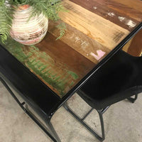Caymen recycled wood industrial desk