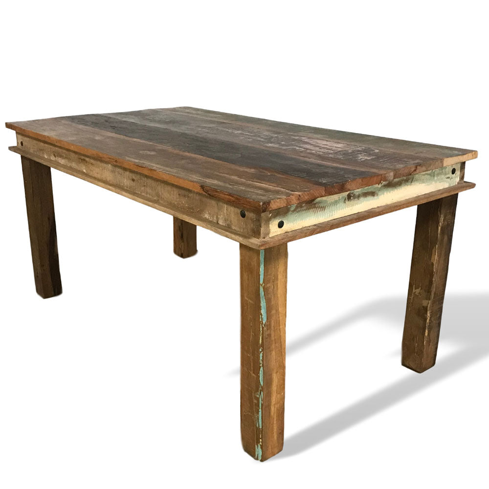 Reclaimed wood small 6 seater dining table