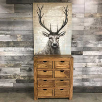 Rosewood 8 drawer dresser