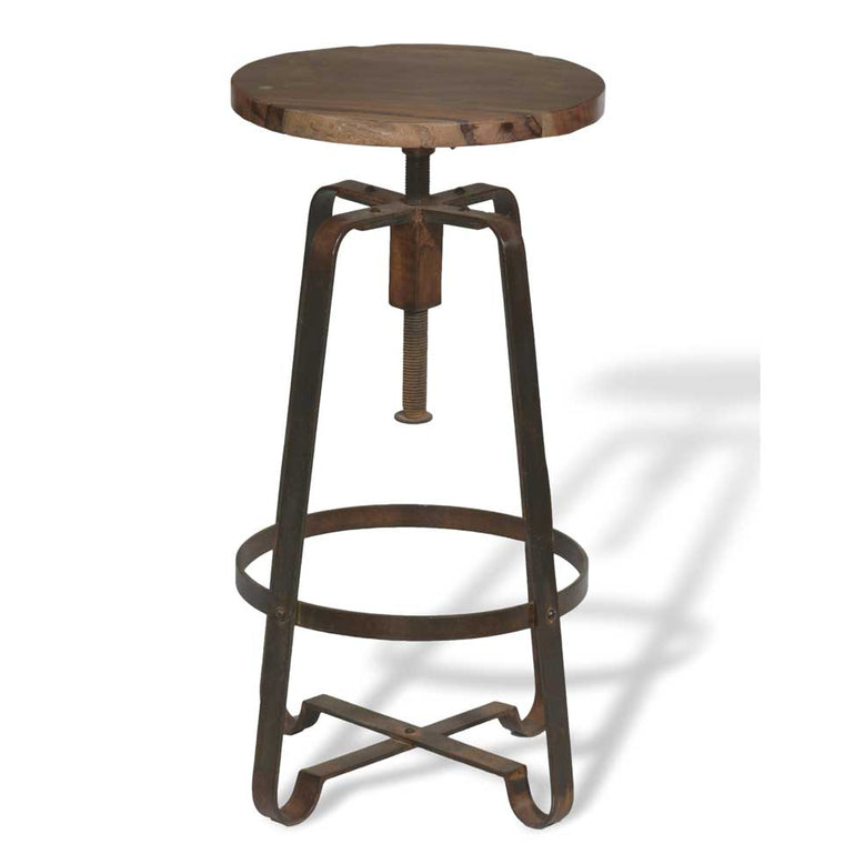 ⚠️ PRE-ORDER ⚠️   Dany Industrial rustic wood counter stool